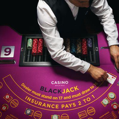 Blackjack-pöytä