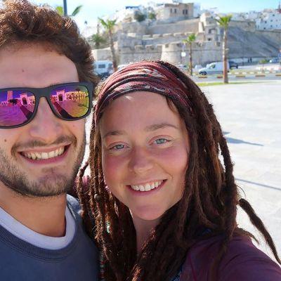 Edith Blais ja Luca Tacchetto selfiekuvassa ennen joulukuussa 2018 tapahtunutta sieppausta.