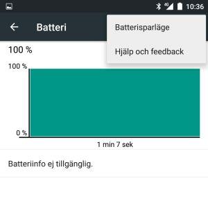 Batteriinfo med Android.