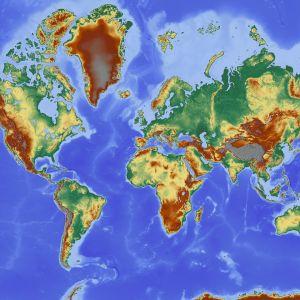 En bild av världskartan