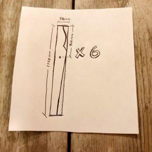 En ritning till sågbock.