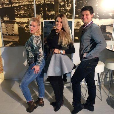 Frida, Rosanna och Niclas poserar