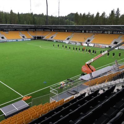Nya fotbollsstadion i Seinäjoki.