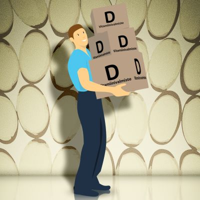 Kuvitus D-vitamiinista.