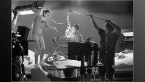 Bild från inspelningen av Coldplays musikvideo till låten Daddy.