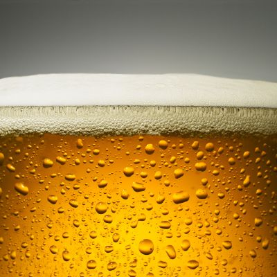 Olutta tuopissa.