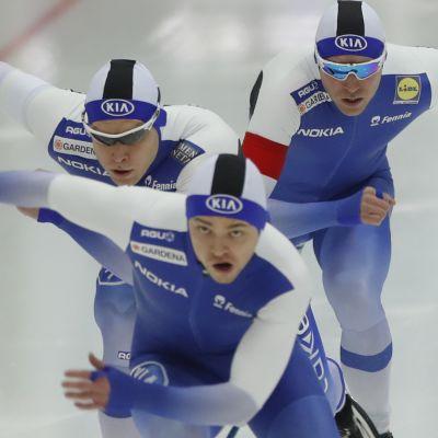 Suomi pikaluistelu team sprint EM 2018