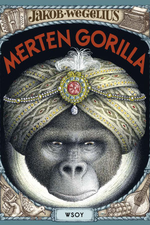 Kirjakansi kirjalle Merten gorilla
