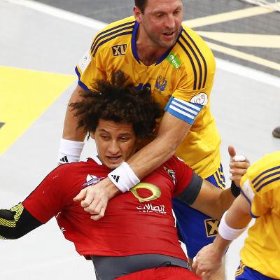Tobias Karlsson vid VM i Qatar.