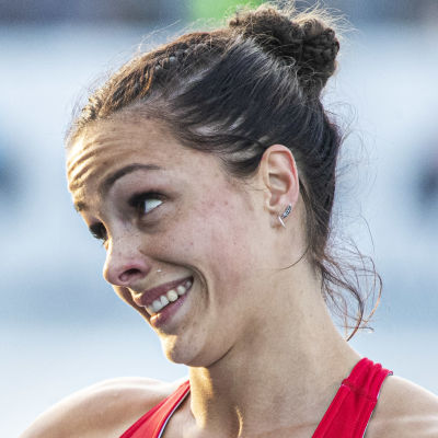 Maria Huntington vid en tävling 2019.