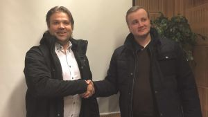 Mikko Ojanne (Rototec) och Christian Sarkala (Tom Allen Ab).