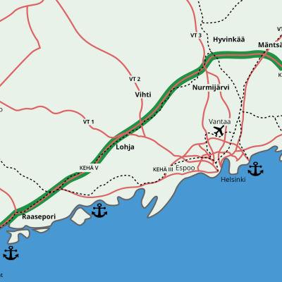 Karta öer tilltänkta ring 5-vägen