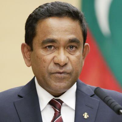 Malediivien presidentti Abdulla Yameen.