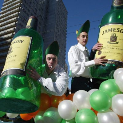 Reklamkampanj för whiskey i Ryssland.