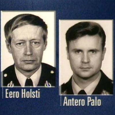 Tehtaankadun poliisisurmissa kuolleet poliisit Eero Holsti ja Antero Palo