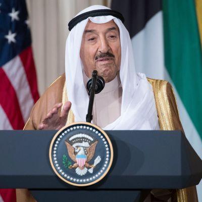 Kuwaitin emiiri Sabah al-Ahmed al-Jaber al-Sabah vieraili Donald Trumpin luona Washingtonissa syyskuun alussa.