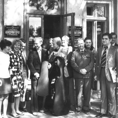 Suomalaisia taiteilijoita Odessan konservatorion vieraina 1974.