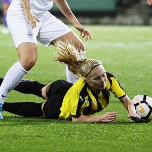 Jutta Rantala spelade mot FC Zürich 2018.
