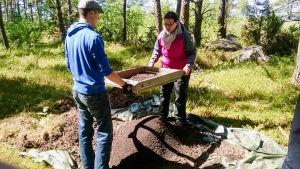 utgrävningar på tulludden i hangö