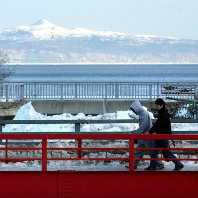 Den annekterade ryska ön Kunashiri ligger endast 24 kilometer norr om hamnstaden Rausu på den japanska stor ön Hokkaido