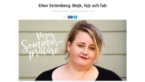 Ellen Strömbergs sommarprat.
