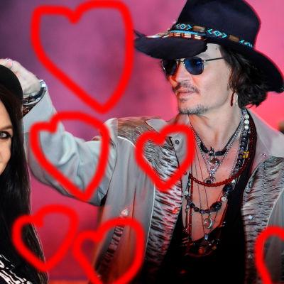 Johnny Depp och hans flickvän Catariina Salo.