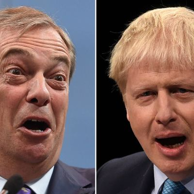 Nigel Farage och Boris Johnson