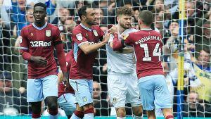 Slagsmål mellan Leeds och Aston Villa.