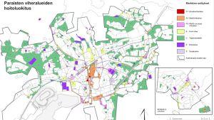 bild över grönområdena i Pargas stad.