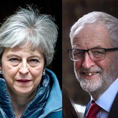 Theresa May och Jeremy Corbyn.