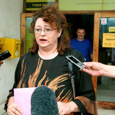 Radovan Karadzicin tytär Sonja Karadzic-Jovicevic kuvattuna heinäkuussa 2008.
