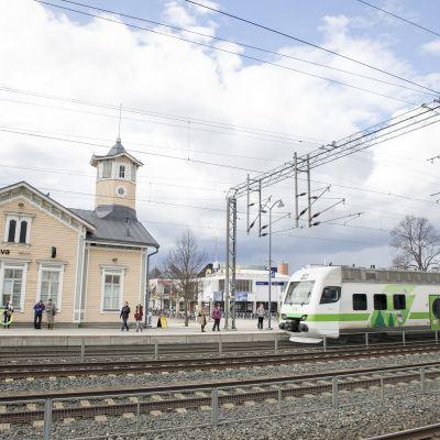Kervos järnvägsstation.