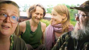 Kollaasi Omavaraiset-dokumenttisarjan päähenkilöistä.