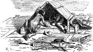 Huckleberry Finn -romaanin kuvitusta