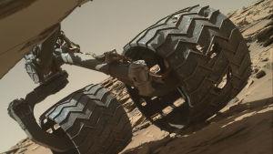 Roverns hjul skadades.