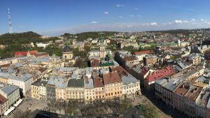 Panorama över Lviv