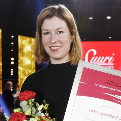 Vuoden Journalisti, Suomen Kuvalehden Vappu Kaarenoja..