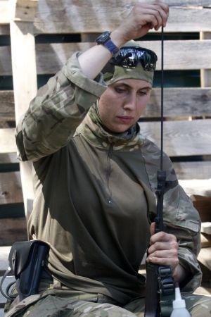 Den tjetjenska frivilligsoldaten Amina Okujeva.