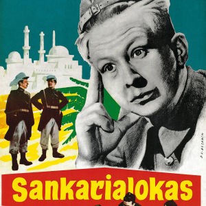 Mainosjuliste elokuvasta Sankarialokas.