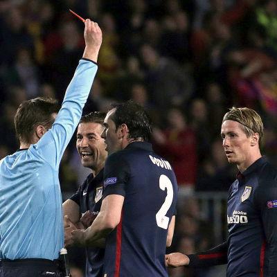 Felix Brych visade det röda kortet till Fernando Torres.