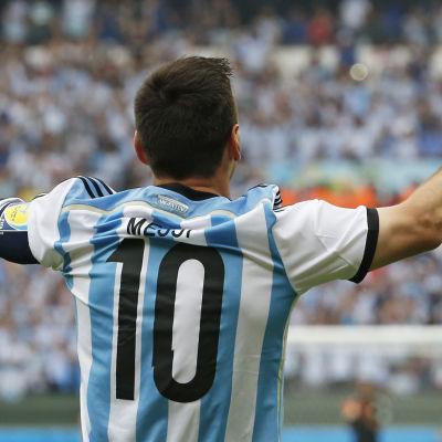 Lionel Messi mot Nigeria under VM 2014