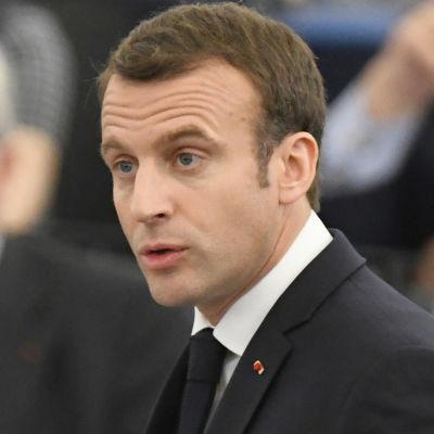 Macron talade inför Europaparlamentet i Strasbourg