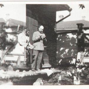 Akseli och Mary Gallen-Kallela  i Borgå 1923