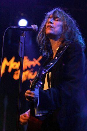 Konsertbild av Patti Smith