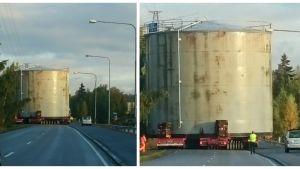 Flyttning av oljecistern i Vasa