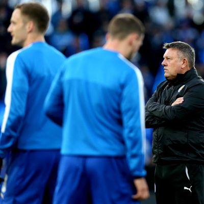 Leicesterin päävalmentaja Craig Shakespeare.