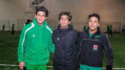 Ahmed Majed, YasserErhima och Ahmed Abd Al-salam kommer från Irak.