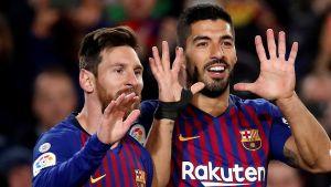 Messi och Suarez målskyttar för Barcelona.