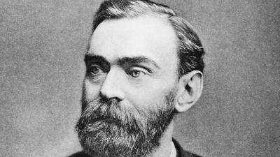 Alfred Nobel porträtt.