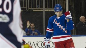 New York Rangers Chris Kreider jublar.